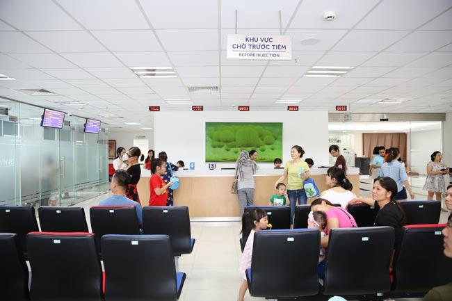 Trung tâm tiêm chủng VNVC được đầu tư trang thiết bị hiện đại