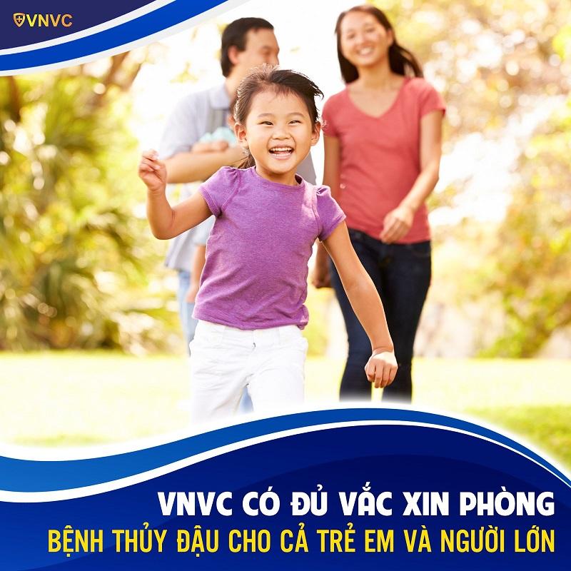 VNVC có đầy đủ vắc xin thủy đậu cho trẻ em và người lớn