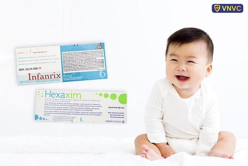 Vắc xin 6in1 Infanrix Hexa và Hexaxim là những vắc xin phối hợp có thành phần phòng bệnh bại liệt