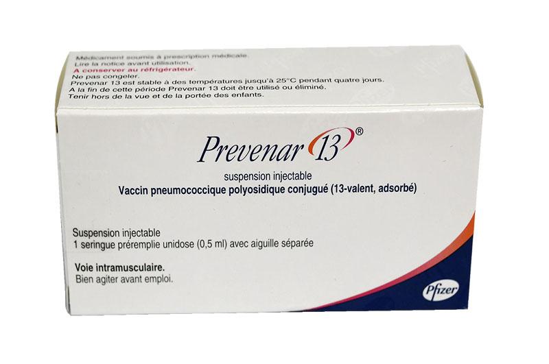 PREVENAR 13 – Vắc xin phòng bệnh viêm phổi, viêm màng não, viêm tai giữa, nhiễm khuẩn huyết do phế cầu khuẩn