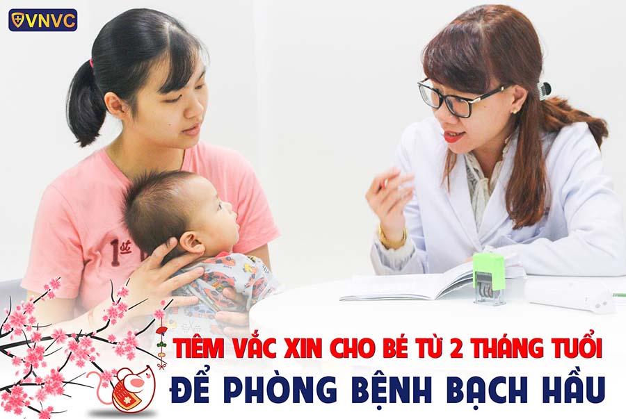 Tiêm vắc xin cho bé để phòng ngừa bệnh bạch hầu