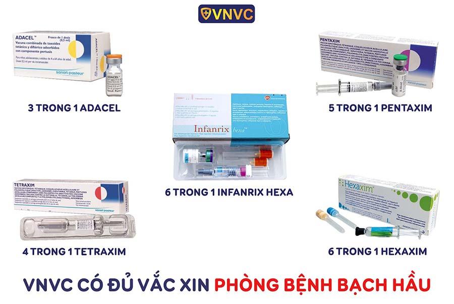 VNVC cung cấp các loại vắc xin phòng ngừa bệnh bạch hầu