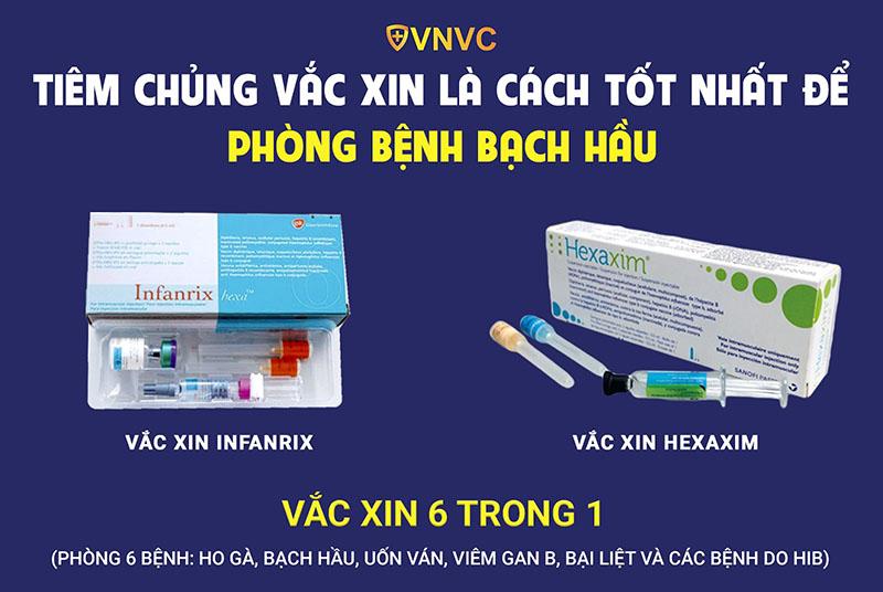 Tiêm chủng vắc xin là cách tốt nhất để phòng bệnh bạch hầu
