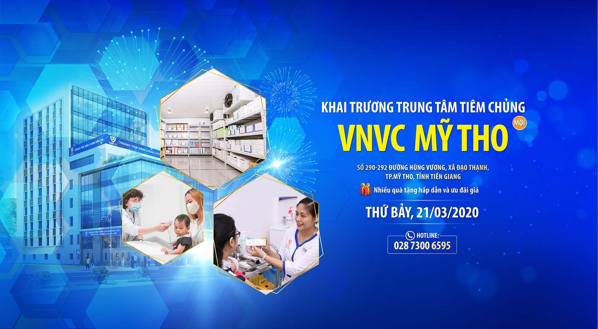 Khai trương trung tâm tiêm chủng VNVC Mỹ Tho