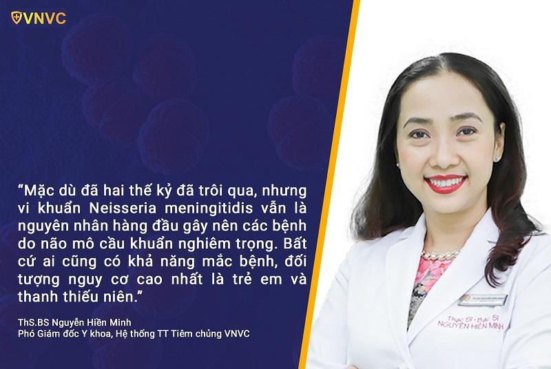 Ths.Bs Nguyễn Hiền Minh, Phó giám đốc y khoa - Trung tâm tiêm chủng VNVC
