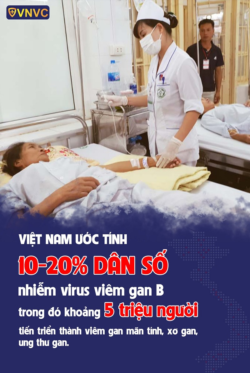 Khoảng 10-20% dân số nhiễm virus viêm gan B
