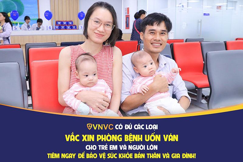 VNVC có đầy đủ các loại vắc xin phòng bệnh uốn ván cho trẻ em và người lớn