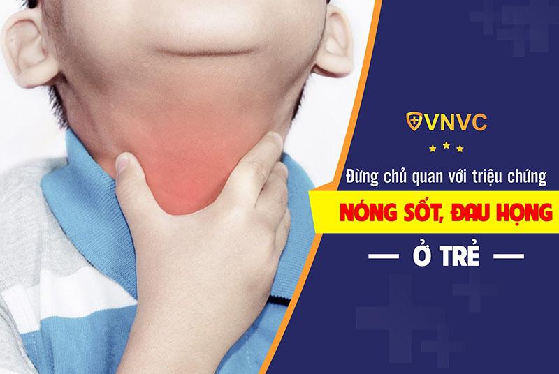 Nóng sốt, đau họng có thể là triệu chứng của bệnh bạch hầu ở trẻ