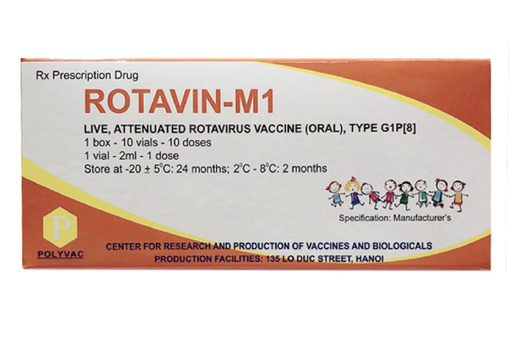 ROTAVIN-M1: Vắc xin phòng bệnh tiêu chảy cấp do Rotavirus