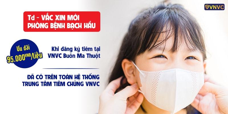 """VNVC ưu đãi 24% giá vắc xin bạch hầu Td cho bà con """"vùng dịch"""""""