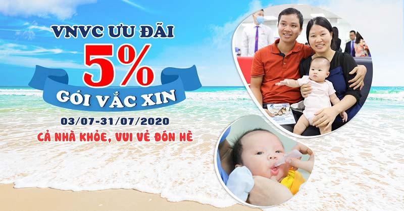 VNVC ưu đãi 5% gói vắc xin, phòng bệnh mùa hè cả nhà khỏe vui