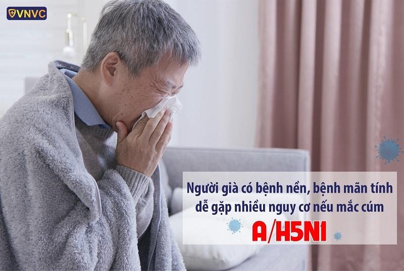 Người già có bệnh nền dễ mắc nguy cơ mắc cúm A/H5N1