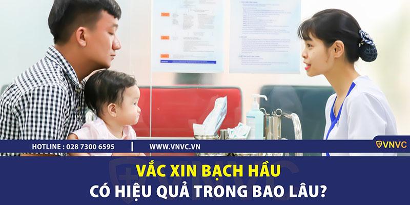 Vắc xin bạch hầu có hiệu quả trong bao lâu?