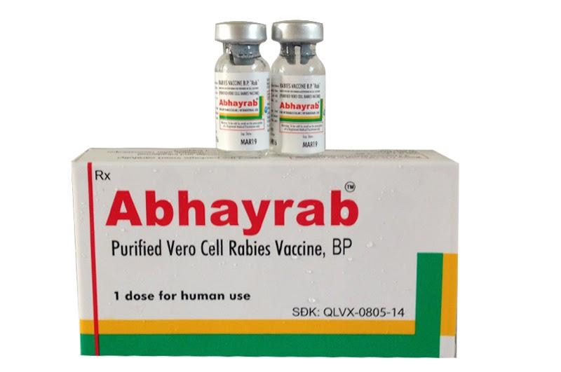 Vắc xin ABHAYRAB 0.5ml (Ấn Độ) phòng bệnh dại