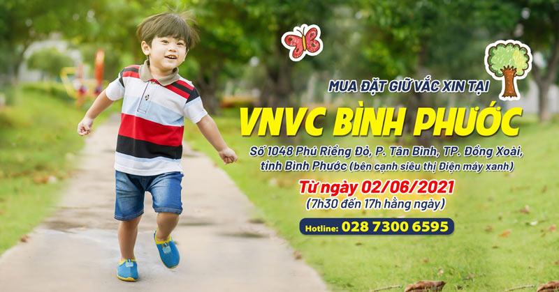 VNVC Bình Phước nhận đặt giữ vắc xin