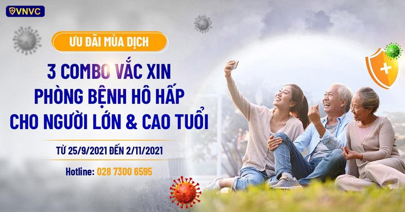 """VNVC ưu đãi 3 combo phòng bệnh Hô hấp, bảo vệ lá phổi trước """"đại dịch"""""""