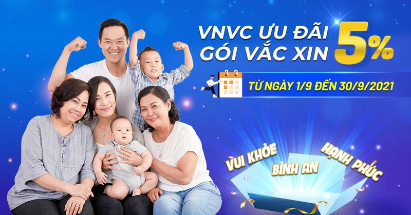 VNVC nối dài ưu đãi 5% Gói vắc xin trong tháng 9